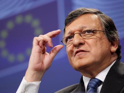 EU-Kommissionspräsident Barroso bei einer Pressekonferenz kurz vor Beginn des Gipfels. Foto: Olivier Hoslet