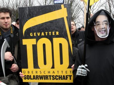Die Kürzungen in der Solarbranche sind umstritten. Foto: Wolfgang Kumm