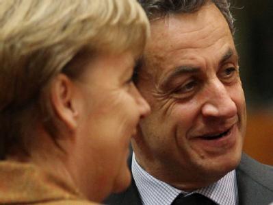 Ist die Krise nun vorbei oder nicht? Kanzlerin Merkel und Frankreichs Präsident Sarkozy sind da unterschiedlicher Meinung. Foto: Oliver Hoslet