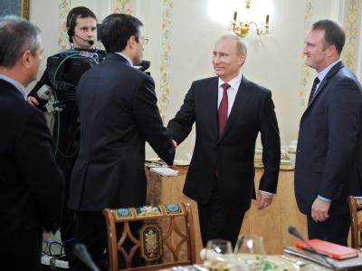 Wladimir Putin trifft Auslands-Journalisten