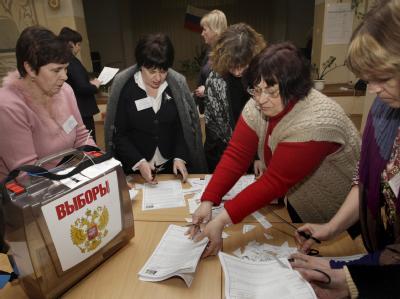 Wahllokal in Smolensk