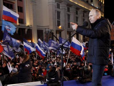 Wladimir Putin vor Anh�ngern