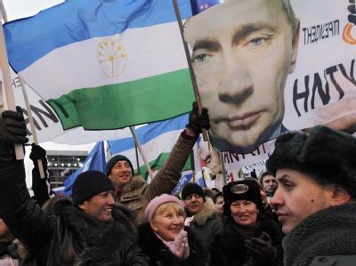 Unterstützer Putins in Moskau