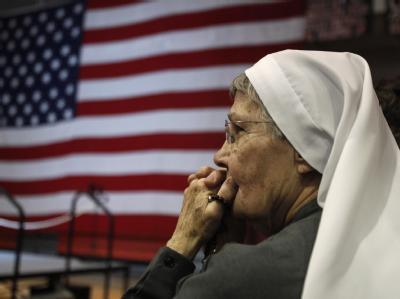 Santorum-Fan: Rick Santorum versucht zu verkörpern, wonach sich die rechte Parteibasis sehnt. Eine Identifikationsfigur, die konservative Werte, Religiosität und Amerikas Führungsanspruch in der Welt hoch hält. Foto: David Maxwell