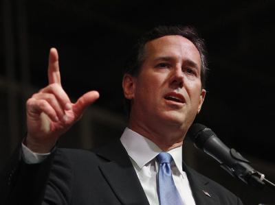 Rick Santorum bleibt seinem Mitbewerber Mitt Romney auf den Fersen. Foto: David Maxwell