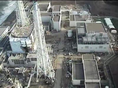 Zerst�rter Reaktor in Fukushima.