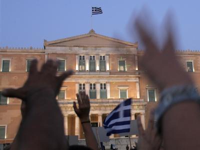 Das Parlament in Athen. Die Beteiligung der privaten Gläubiger am Schuldenschnitt hat die wichtige 75-Prozent-Marke deutlich überschritten. Foto: Alexandros Vlachos