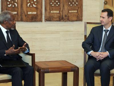 Assad trift Kofi Annan