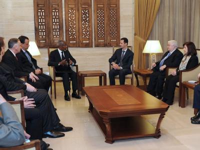 Treffen Assad und Annan