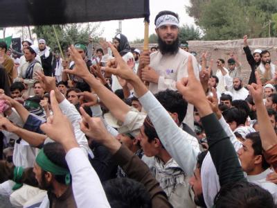 Studenten-Protest an der Uni Jalalabad  wegen des Amoklaufs eines US-Soldaten. Foto: Baz Muhammad Abid