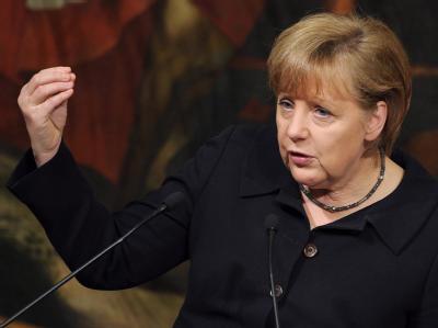 «Wenn es in Nordrhein-Westfalen zu Neuwahlen kommen sollte, dann glaube ich, ist das gut und richtig»: Bundeskanzlerin Angela Merkel. Foto: Ettore Ferrari/Archiv