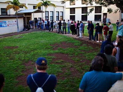 Wahllokal im Staat Hawaii.