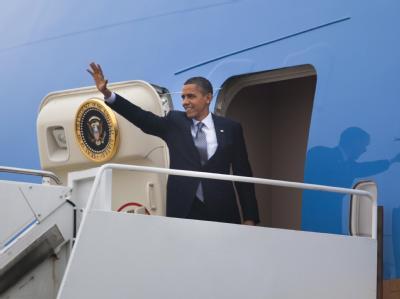 Der Führer des Terrornetzwerkes Al-Kaida soll Anschläge auf die Air Force One geplant haben: US-Präsident Barack Obama. Foto: Jim Lo Scalzoi