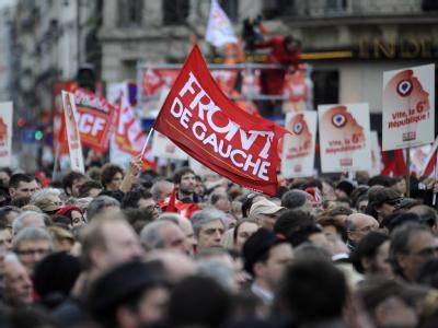 Kundgebung der Linksfront in Paris