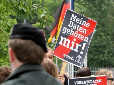 Protest gegen Vorratsdatenspeicherung