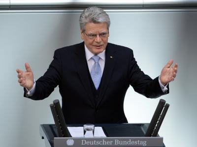 Der neue Bundespräsident Gauck ruft die Menschen zu Mut und Zuversicht auf. Foto: Britta Pedersen
