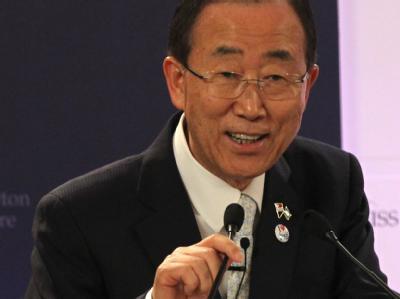 Ban Ki Moon.reist nach Birma. Foto: Stephen Morrison/Archiv