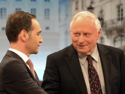 Heiko Maas (SPD) und Oskar Lafontaine (Linke). Foto: Boris Roessler