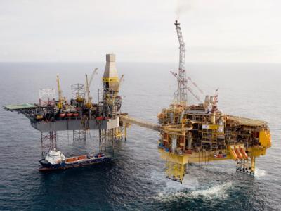 Die Elgin-Gasplattform des französischen Energiekonzerns Total in der Nordsee. Foto: Total E&P UK