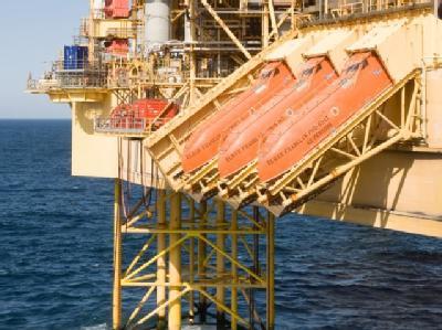 Undatierte Aufnahme der Elgin-Gasplattform in der Nordsee. Foto: Total