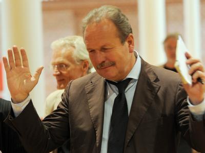 Verdi-Chef Frank Bsirske bei der dritten Runde der Tarifverhandlungen für den Öffentlichen Dienst. Foto: Bernd Settnik