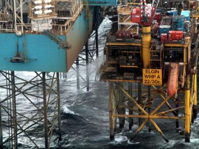 Aus diesem Leck strömte auf Elgin-Gasplattform des französischen Energiekonzerns Total das Gas. Foto: Total E&P