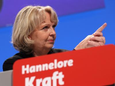 NRW-Ministerpräsidentin Hannelore Kraft am Samstag beim Parteitag in Düsseldorf. Foto: Oliver Berg