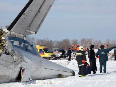Ein Flugzeug mit 43 Menschen ist in Sibirien abgestürzt. Foto: Russian Emergency Ministry