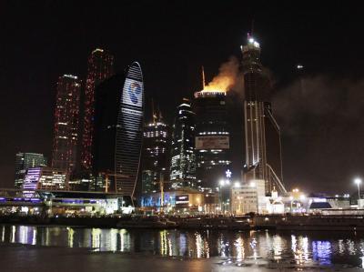 Brand auf Hochhaus-Baustelle