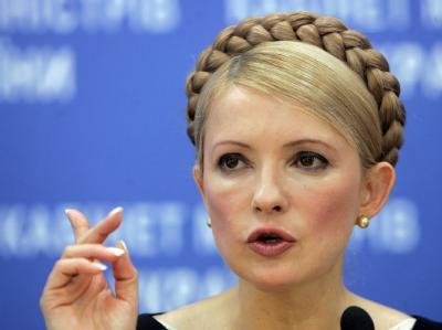Die ukrainische Ex-Regierungschefin Julia Timoschenko. Foto: Sergey Dolzhenko/Archiv