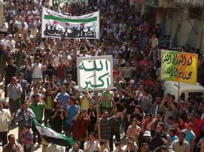 Demonstration nahe Idlib