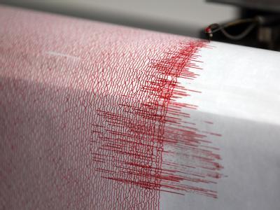 Der Seismograph verzeichnet Ausschläge. Foto: Oliver Berg/Archiv