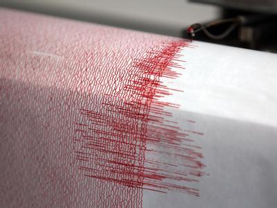 Ausschlag eines Seismographen. Immer wieder verursachen Erdbeben schwere Schäden. Foto: Oliver Berg/Archiv