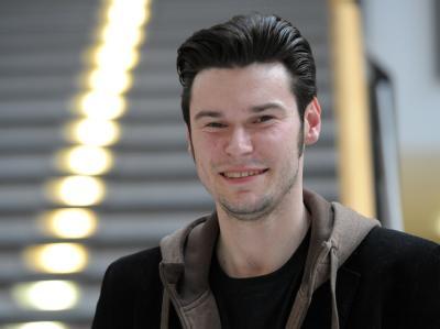 Lukas Lamla hält die Piratenpartei für nicht sexistischer als andere. Foto: Caroline Seidel