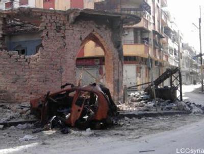 Zerstörtes Gebäude in Homs. Foto: Local Coordination Committes Lcc/Archiv