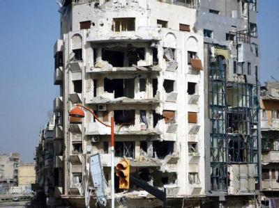 Zerstörte Gebäude in Homs. Foto: Local Coordination Commitees LCC/Archiv