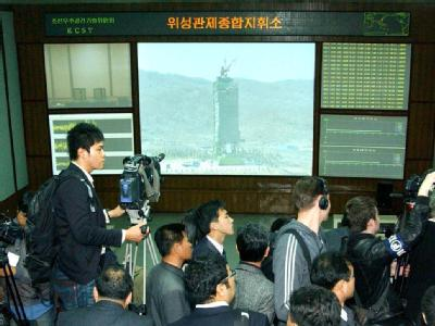 Das Medieninteresse am Raketentest in Nordkorea war riesig. Foto: KCNA