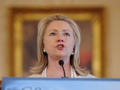 US-Außenministerin Hillary Clinton: Pakistan hat der Wiedereröffnung der Nachschubwege für die Nato-Truppen in Afghanistan zugestimmt. Foto: Michael Reynolds/ Archiv