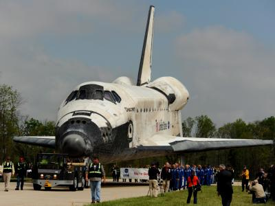«In ihrem neuen Heim wird sie als Amerikas Ikone glänzen und Menschen über Generationen hinweg bilden und inspirieren»: Die Discovery ist das älteste und meistgereiste Shuttle. Foto: Michael Reynolds