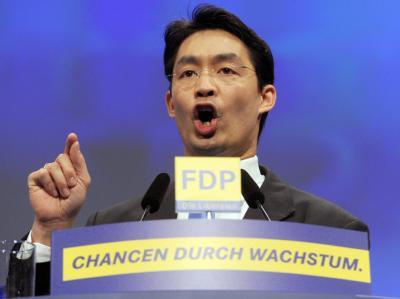Philipp Rösler beim Bundesparteitag der FDP. Foto: Uli Deck