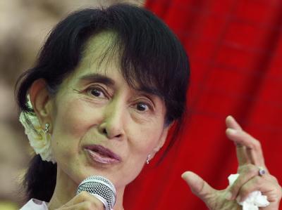 Schwere Schlappe für Birmas Reformpräsidenten Thein Sein: Friedensnobelpreisträgerin Aung San Suu Kyi boykottiert den Einzug ins Parlament. Foto: Barbara Walton