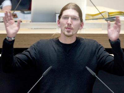 Der Abgeordnete der Piratenpartei Martin Delius. Foto: Soeren Stache