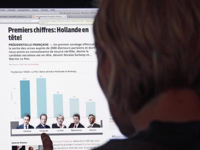 Vor Schließung der letzten Wahlbüros durften französische Medien Hochrechnungen nicht veröffentlichen, so dass ausländische Websites und Twitter als Informationsquellen genutzt wurden. Foto: Peter Klaunzer