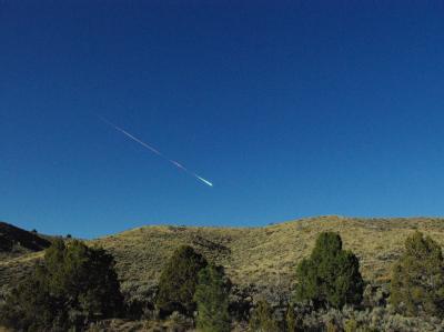 Feuerball über der Sierra Nevada