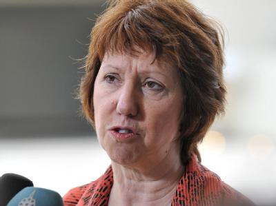 Die EU-Außenbeauftragte Catherine Ashton: «Die Repression in Syrien muss enden». Foto: Nicolas Bouvy