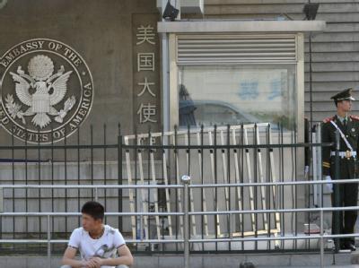 US-Botschaft in Peking: Hier soll der blinde chinesische Dissident Chen Guangcheng Zuflucht gesucht haben. Foto: Kyodo/MAXPPP