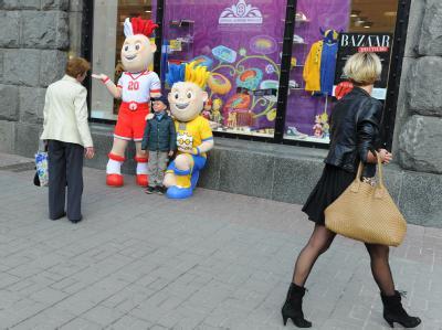 Maskottchen der Fu�ball-EM in Kiew