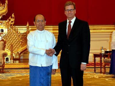 Birmas Präsident Thein Sein und Außenminister Westerwelle