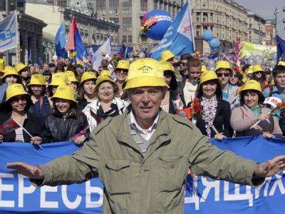 Mai-Demonstration in Moskau