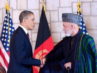 Obama und Karsai
